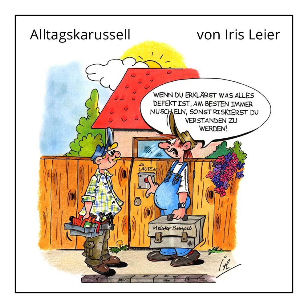 Cartoon Alltagskarussell von Iris Leier bei der Rätselschmiede