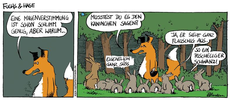 """Comic """"Fuchs und Hase"""" von Rüdiger Tillmann bei der Rätselschmiede"""