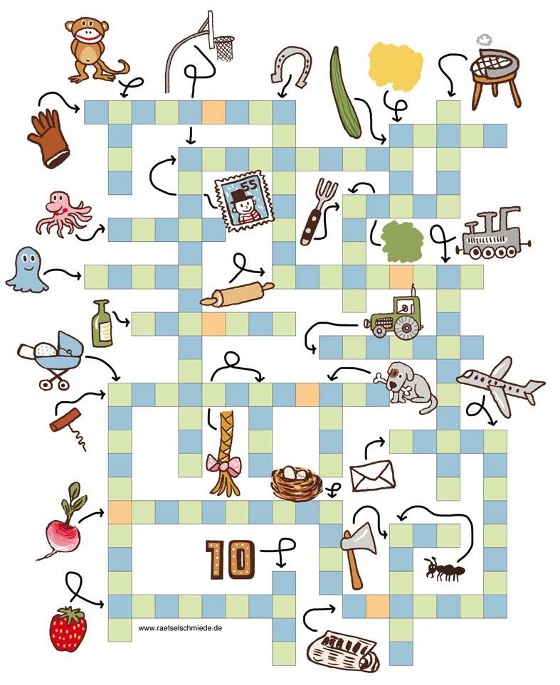 Kinderrätsel Kinderkreuzworträtsel von Christine Reguigne mit Illustrationen von Judith Drews