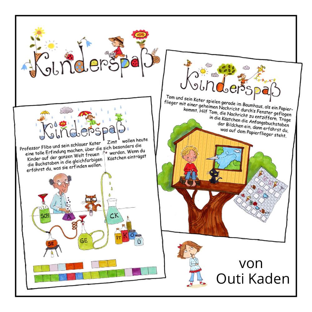 Kinderrätsel Kinderspaß von Outi Kaden bei der Rätselschmiede