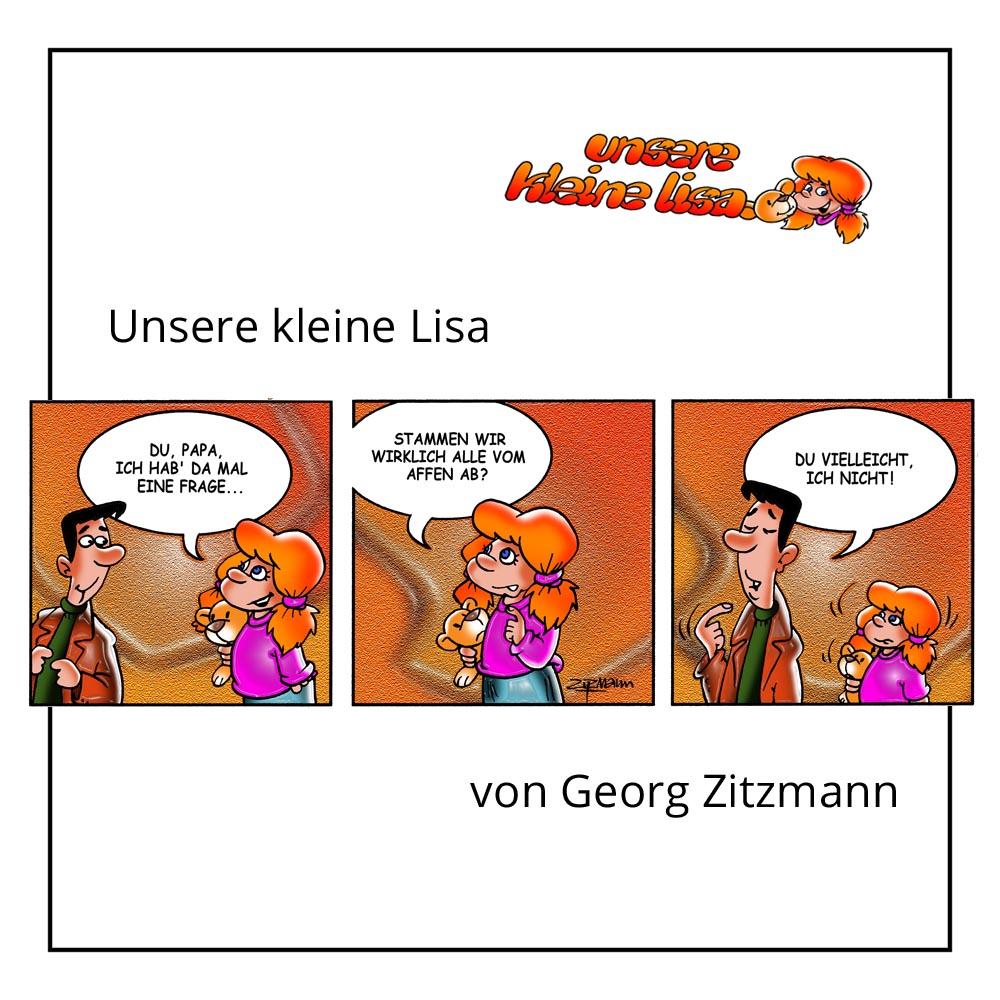 """Comic """"Unsere kleine Lisa"""" von Georg Zitzmann bei der Rätselschmiede"""