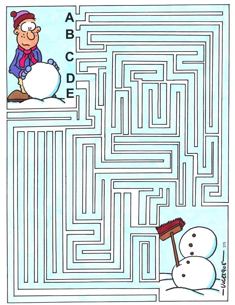 Kinderrätsel Labyrinth von Heiko Vogel bei der Rätselschmiede