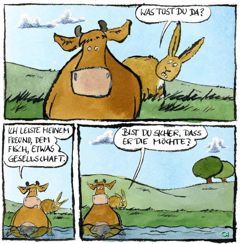 """Cartoon """"Tillmanns Tierleben"""" von Rüdiger Tillmann bei der Rätselschmiede"""