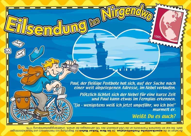 Kinderrätsel Eilsendung ins Nirgendwo von Gerrit Hansen bei der Rätselschmiede