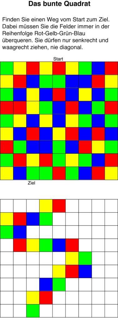 Buntes Quadrat von Martin Matheis bei der Rätselschmiede