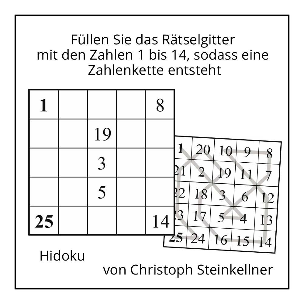 Hidoku von Christoph Steinkellner bei der Rätselschmiede