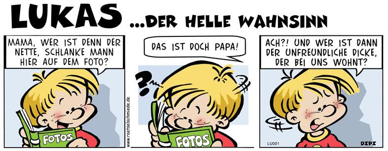 Comic Lukas der helle Wahnsinn Comic von DIPI Dirk Pietzrak bei der Rätselschmiede