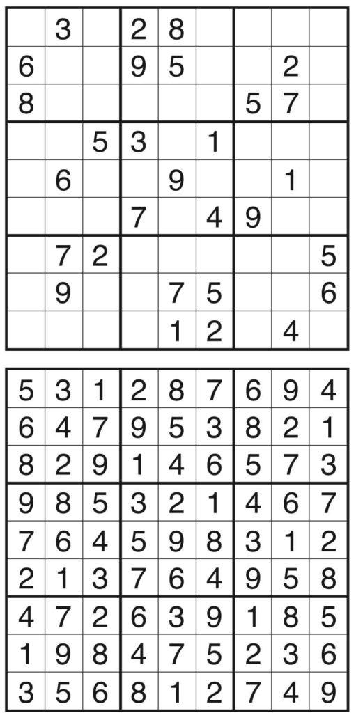 Sudoku von der Rätselschmiede