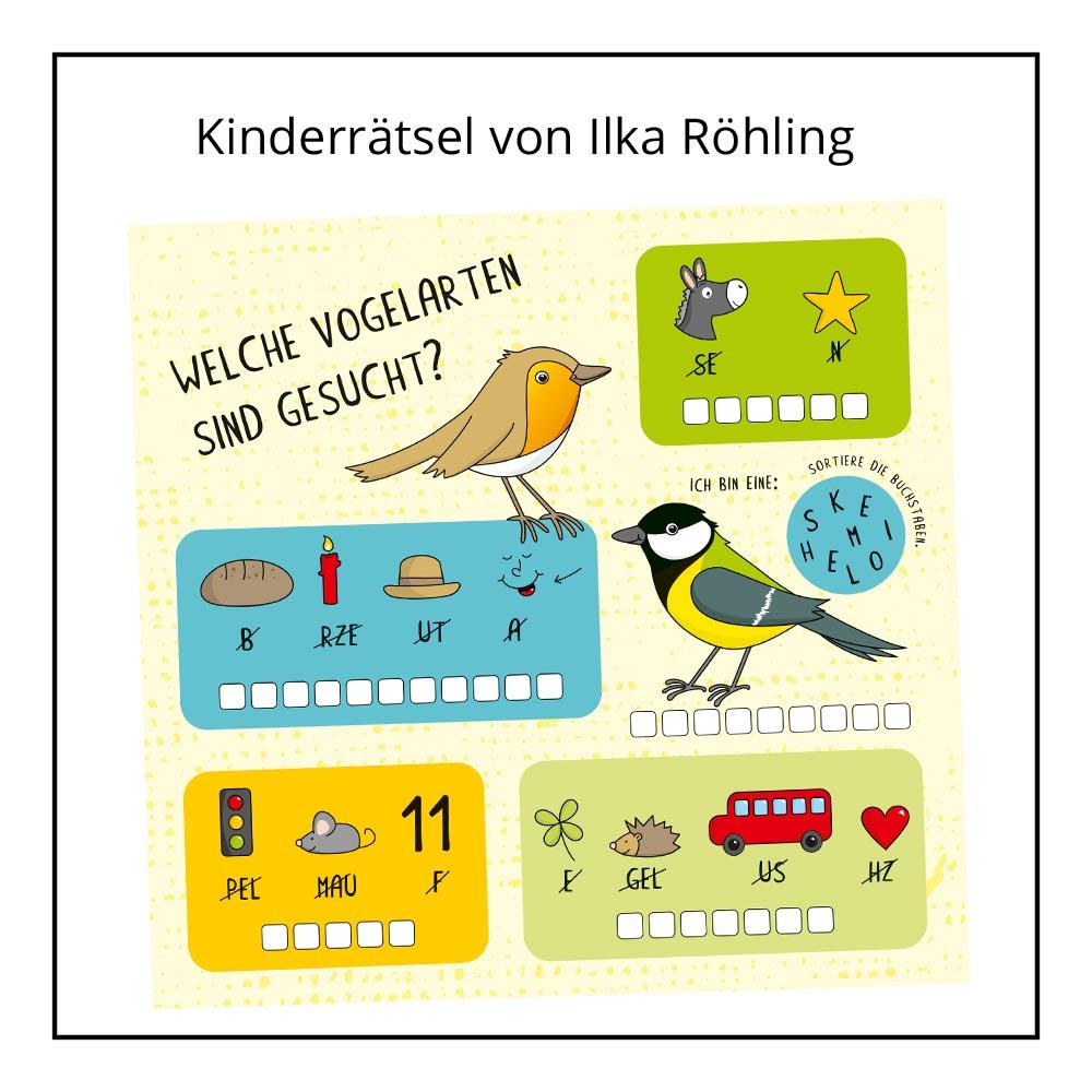 Kinderrätsel von Ilka Röhling bei der Rätselschmiede