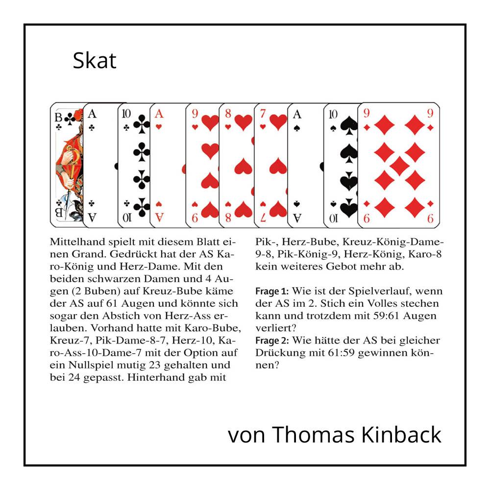 Skatkolumne von Thomas Kinbach bei der Rätselschmiede