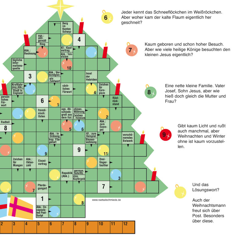 Weihnachtsrätsel 2018 Die Rätselschmiede