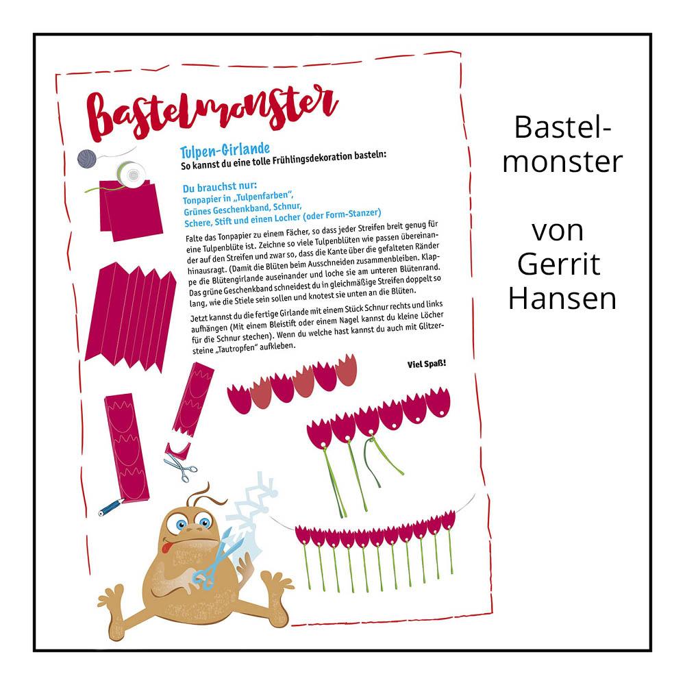 Bastelanleitung Bastelmonster von Gerrit Hansen bei der Rätselschmiede