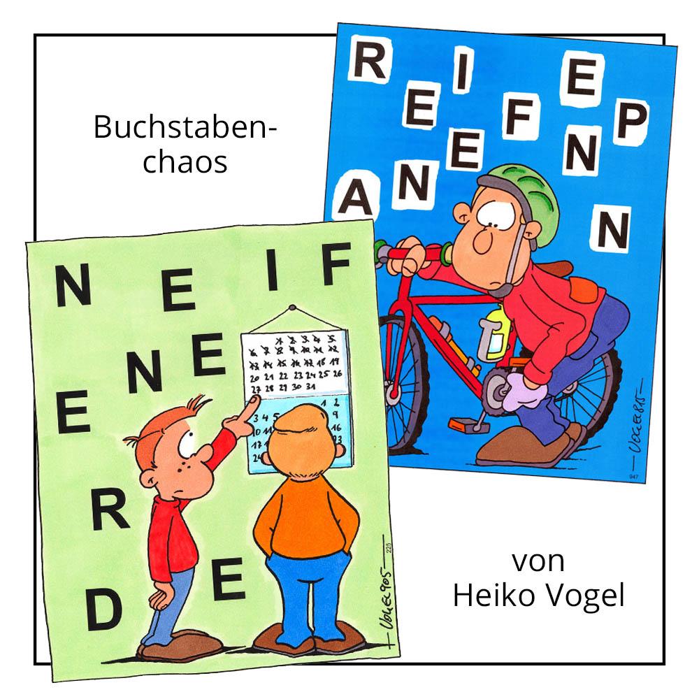 """Kinderrätsel """"Buchstabenchaos"""" von Heiko Vogel bei der Rätselschmiede"""