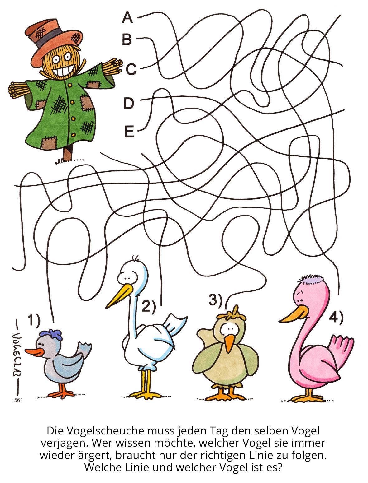 """Kinderrätsel """"Schnurrätsel"""" von Heiko Vogel bei der Rätselschmiede"""