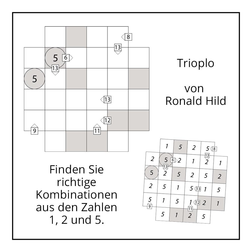 """Rätsel """"Trioplo"""" von Ronald Hild bei der Rätselschmiede"""